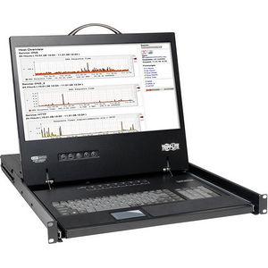 """Tripp Lite B040-016-19 16-Port Rack Console VGA KVM Switch w/ 19"""" LCD 1U TAA"""