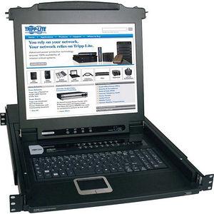 "Tripp Lite B020-016-17 16-Port Rack Console KVM Switch w/ 17"" LCD PS/2 1U"