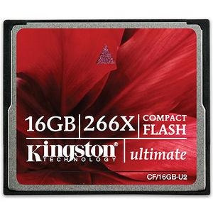 Kingston CF/16GB-U2 16GB Ultimate CompactFlash Card - 266x