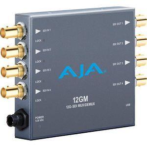 AJA 12GM-R0 12G/6G/3G/1.5G HD/SD Muxer and Demuxer