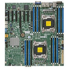 Supermicro MBD-X10DRH-I-O Server Motherboard - Intel C612 Chipset - Socket LGA 2011-v3 - Retail