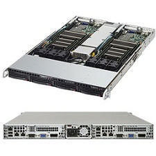 Supermicro SYS-6018TR-T 1U Barebone - Intel C612 Express Chipset - 2 Nodes - LGA 2011-v3 - 2 x CPU