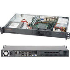 Supermicro SYS-5018A-TN7B 1U Rack Server - 1 x Intel Atom C2758 8 Core 2.40 GHz DDR3 SDRAM