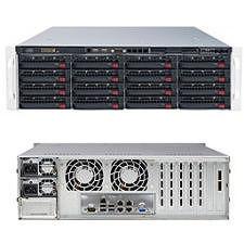 Supermicro SSG-6037R-E1R16N 3U Rackmount Barebone - Intel C602 Chipset - Socket R LGA-2011 - 2x CPU