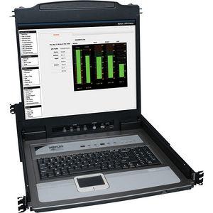 """Tripp Lite B020-U16-19-K 16-Port Rack Console KVM Switch 19"""" LCD PS2/USB Cables 1U"""