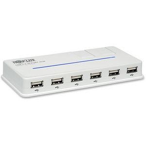 Tripp Lite U222-010-R 10-Port USB 2.0 Hi-Speed Hub Compact Desktop Mobile Tower