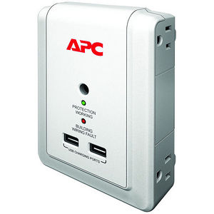 APC P4WUSB SurgeArrest Essential 4-Outlets Surge Suppressor