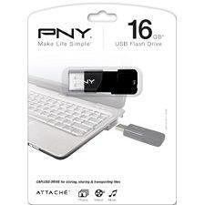 PNY P-FD16GATT03-GE 16GB Attache USB 2.0 Flash Drive