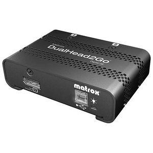 Matrox D2G-DP2D-IF DualHead2Go Digital SE - MultiView - DisplayPort - DVI - USB - External