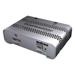 Matrox D2G-DP2D-MIF DualHead2Go Digital ME - MultiView - DisplayPort - DVI - USB - External