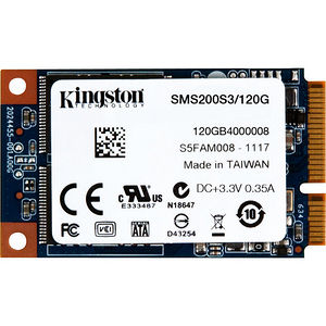 Kingston SMS200S3/120G SSDNow mS200 120 GB Solid State Drive - mini-SATA (SATA/600) - Internal
