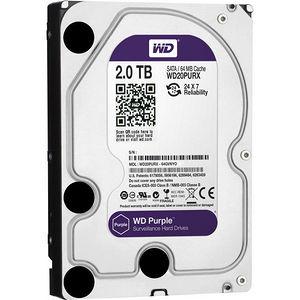 """WD WD20PURX Purple 2TB Surveillance 3.5"""" Internal Hard Drive"""