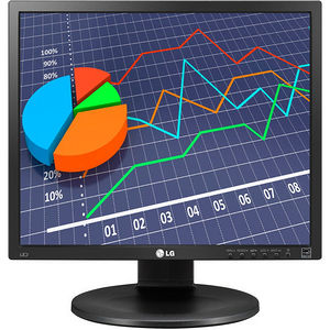 "LG 19MB35PM-B 19"" SXGA LED LCD Monitor - 5:4 - Dark Anthracite, Black"