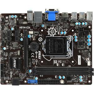 MSI H81M-E34 Desktop Motherboard - Intel Chipset - Socket H3 LGA-1150
