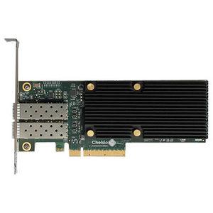 Chelsio T520-LL-CR 2-port Low Latency Low Pro 1/10GbE UWire Adapter w/ PCI-E x8 Gen 3, 32K conn.