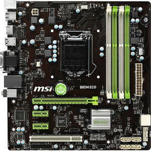 MSI B85M ECO Desktop Motherboard - Intel Chipset - Socket H3 LGA-1150