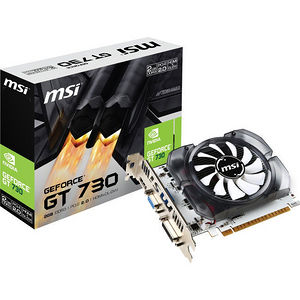 MSI N730-2GD3 GeForce GT 730 Graphic Card - 700 MHz Core - 2 GB DDR3 SDRAM - PCI-E 2.0 x16
