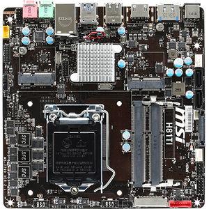 MSI H81TI Desktop Motherboard - Intel Chipset - Socket H3 LGA-1150