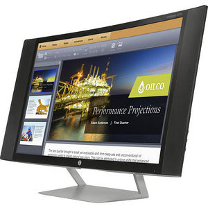 """HP K1M38A8#ABA Business S270c 27"""" Full HD Curved Screen LED LCD Monitor - 16:9 - Black, Silver"""