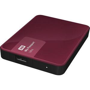 WD WDBBKD0030BBY-NESN My Passport Ultra 3TB USB 3.0 Secure portable drive w/ auto backup Wild Berry