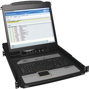 """Tripp Lite B020-U16-19-IP 16-Port IP KVM Switch Rack Console w/ 19"""" LCD 1U"""
