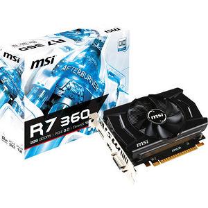 MSI R7 360 2GD5 OC Radeon R7 360 Graphic Card - 1.10 GHz Core - 2 GB GDDR5 - PCI Express 3.0 x16