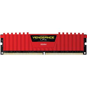 Corsair CMK32GX4M4A2400C14R Vengeance LPX 32GB (4x8GB) DDR4 DRAM 2400MHz C14 - Unbuffered - Red