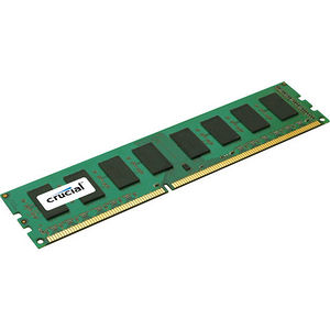 Crucial CT51272BD160BJ 4GB, 240-pin DIMM, DDR3 PC3-12800 Memory Module - ECC - Unbuffered