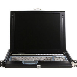 StarTech CABCONS1716I 1U 17 Rackmount LCD Console with 16 Port IP KVM