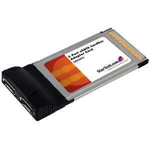 StarTech CBESAT2 2 Port CardBus eSATA Laptop Controller Adapter Card