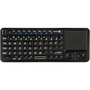 VisionTek 900507 CANDYBOARD Wireless 2.4GHZ RF Mini QWERTY Keyboard with Universal IR TV Remote