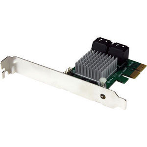 StarTech PEXSAT34RH 4 Port PCIe 2.0 SATA III 6Gbps RAID Controller Card with HyperDuo SSD Tiering