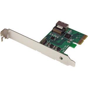 StarTech PEXSAT34SFF PCIe SATA III RAID Controller Card w/ Mini-SAS Connector, HyperDuo SSD Tiering
