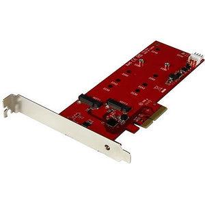 StarTech PEX2M2 2x M.2 SSD Controller Card - PCIe M.2 SATA III Controller - NGFF Card Adapter