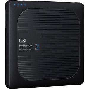 WD WDBSMT0030BBK-NESN 3TB My Passport Wireless Pro Portable Hard Drive - WiFi AC, SD, USB 3.0