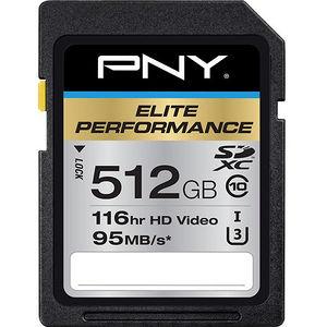 PNY P-SDX512U3H-GE Elite Performance 512 GB SDXC