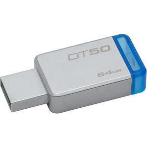 Kingston DT50/64GB 64GB USB 3.0 DataTraveler 50 (Metal/Blue)