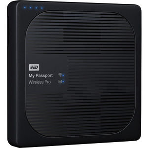 WD WDBSMT0040BBK-NESN 4TB My Passport Wireless Pro Portable Hard Drive - WiFi AC, SD, USB 3.0