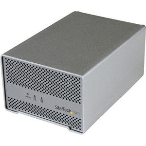 "StarTech S252SMTB3 Thunderbolt Hard Drive Enclosure with Thunderbolt Cable - Dual Bay 2.5"" HDD"