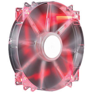 Cooler Master R4-LUS-07AR-GP MegaFlow 200 - Sleeve Bearing 200mm Red LED Silent Fan
