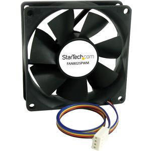 StarTech FAN8025PWM 80x25mm Computer Case Fan with PWM - Pulse Width Modulation Connector
