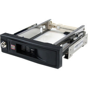 StarTech HSB100SATBK 5.25in Trayless Hot Swap Mobile Rack for 3.5in Hard Drive
