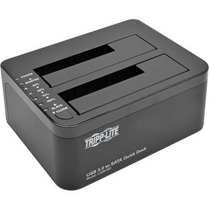 Tripp Lite U339-002 USB 3.0 SuperSpeed to Dual SATA External Hard Drive Docking Station 2.5 & 3.5in