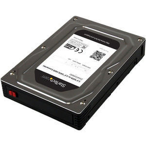 "StarTech 25SAT35HDD 2.5"" to 3.5"" SATA Aluminum Hard Drive Adapter Enclosure w/ Height up to 12.5mm"