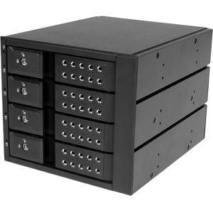 StarTech HSB4SATSASBA 4 Bay Trayless Hot Swap Mobile Rack Backplane for 3.5in SAS II/SATA III HDD