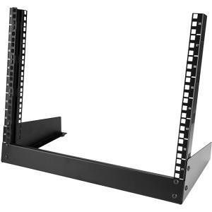 StarTech RK8OD 8U Desktop Rack - 2-Post Open Frame Rack - 19in Open Frame Desktop Rail Rack - 8U
