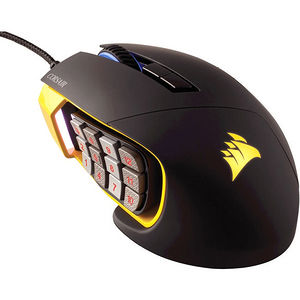 Corsair CH-9304011-NA Scimitar PRO RGB Optical MOBA/MMO Gaming Mouse - Yellow