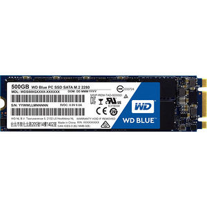 WD WDS500G1B0B Blue M.2 500GB Internal SSD Solid State Drive - SATA 6Gb/s