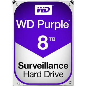 """WD WD80PURZ Purple 8 TB 3.5"""" SATA 5400 RPM 128 MB Cache Surveillance Hard Drive"""