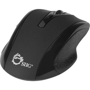 SIIG JK-WR0A12-S2 6-Button Ergonomic Wireless Optical Mouse - Black